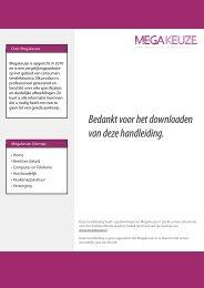 Bedankt voor het downloaden van deze handleiding. - MegaKeuze.nl