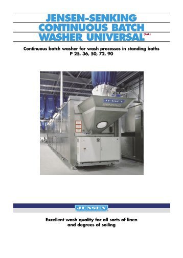 Jensen Washer Extractors ~ Water recovery and reuse
