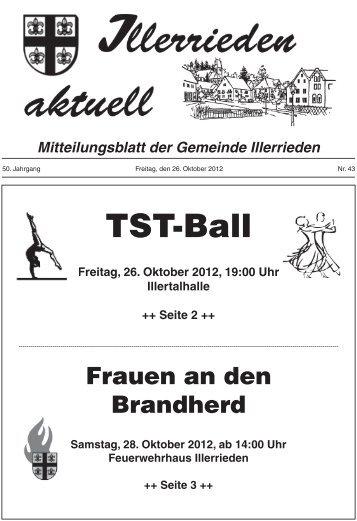 Freitag, 26. Oktober 2012, 19:00 Uhr Illertalhalle ++ ... - Illerrieden