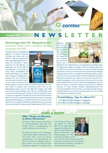 BGA Seligweiler ist am Netz - Corntec Energie