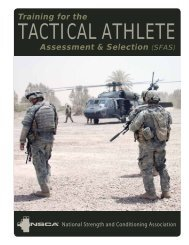 Training for the Tactical Athlete: Assessment & Selection (SFAS)