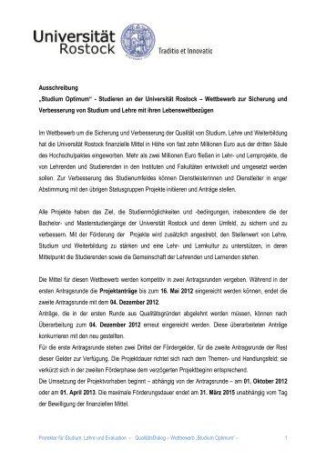 Studium Optimum - Universität Rostock