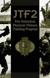 Pre-selection physical fitness training program - Canadian Forces ...