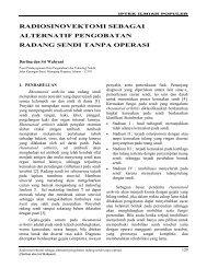 Radiosinovektomi sebagai alternatif pengobatan radang sendi tanpa