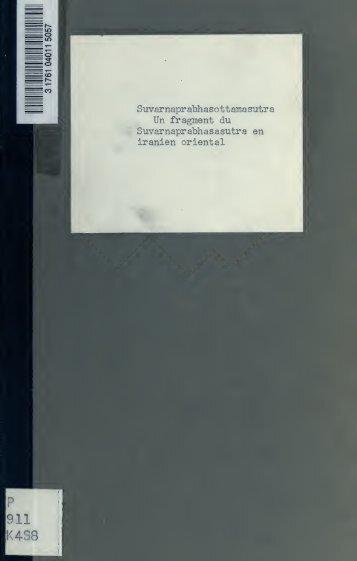 Un fragment du Suvarnabprabhsastra en iranien oriental - Index of