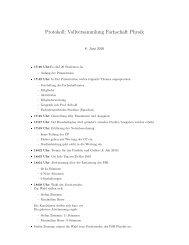 Protokoll der Vollversammlung vom 08.06.2010