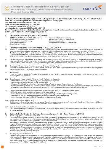 agb auftragsdatenverarbeitung pdf badenit - Auftragsdatenverarbeitung Muster