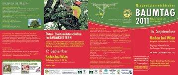 Baden bei Wien - Niederösterreichischer Baumtag