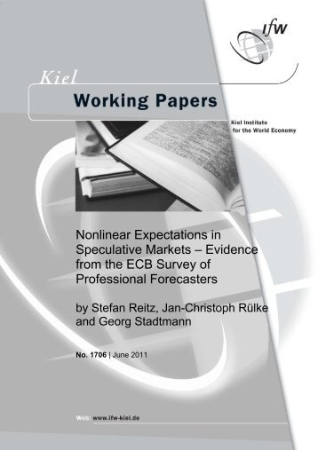 Nonlinear Expectations in Speculative Markets – Evidence from the ...