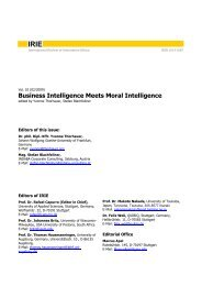 IRIE - International Review of Information Ethics