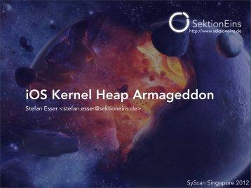 iOS Kernel Heap Armageddon