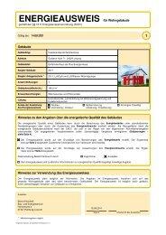 ENERGIEAUSWEIS für Wohngebäude - Kampa