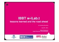 IBBT w-iLab.t lessons learned and the road ahead - IoT Week