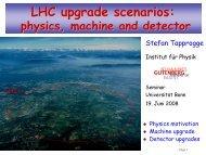 LHC upgrade scenarios: - Physikalisches Institut Universität Bonn