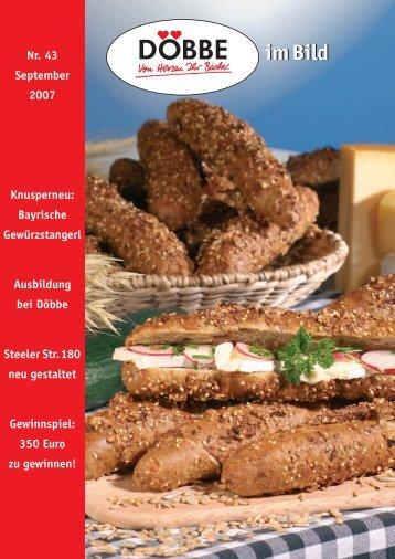 Nr. 43 September 2007 Knusperneu: Bayrische Gewürzstangerl ...