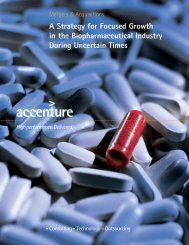 A Strategy for Focused Growth in the Biopharmaceutical Industry ...