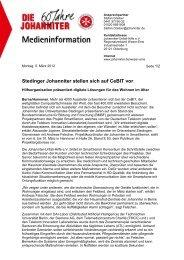 Stedinger Johanniter stellen sich auf CeBIT vor - SmartSenior