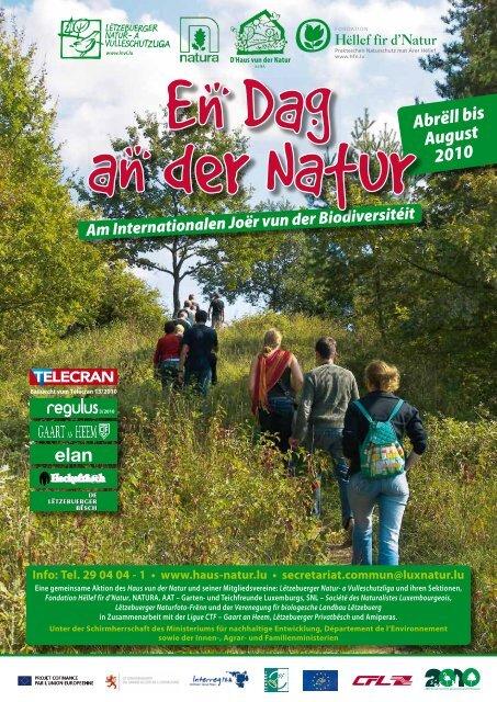Abrëll bis August 2010 - Lëtzebuerger Natur- a Vulleschutzliga