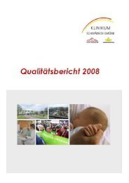 Qualitätsbericht 2008 Angaben nach den ... - Häufige Fragen