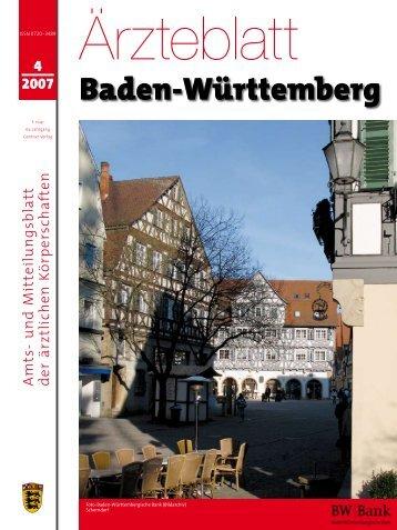 Ärzteblatt Baden-Württemberg Ausgabe 04-2007