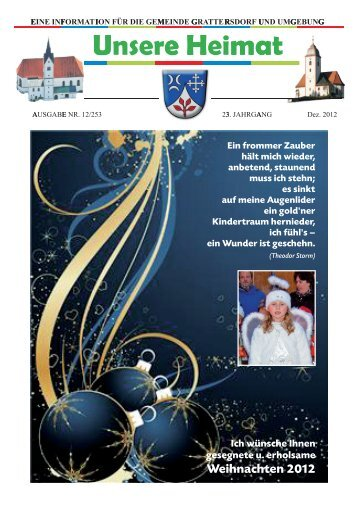 Unsere Heimat Dezember 2012 - Grattersdorf