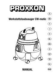 Werkstattstaubsauger CW-matic MANUAL - Axminster Power Tool ...