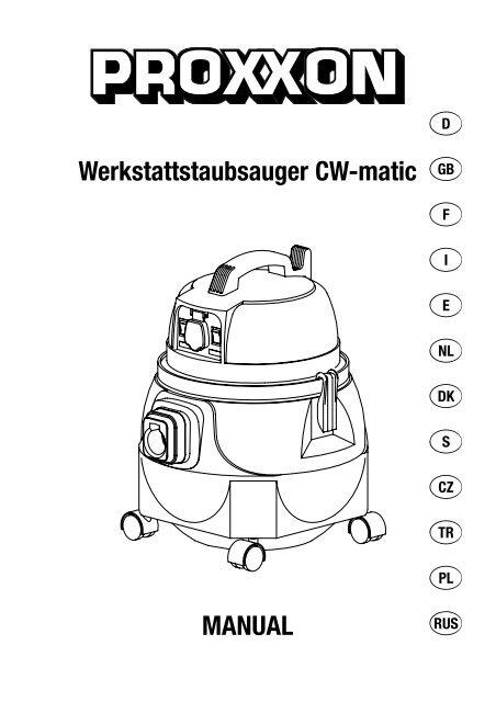 Werkstattstaubsauger CW-matic MANUAL - Axminster Power Tool ...
