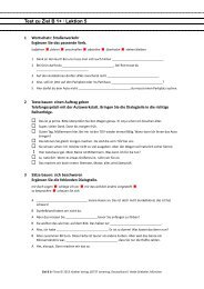 Test zu Ziel B 1+ Ι Lektion 5 - Hueber