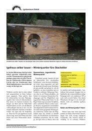 Igelhaus selber bauen - Igelzentrum Zürich