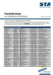 Energieberatung im Landkreis Starnberg