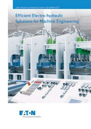 Efficient Electro-hydraulic Solutions for Machine Engineering - Moeller