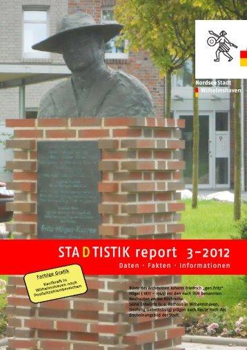 vierteljährlich STA(D)TISTIK report - Stadt Wilhelmshaven