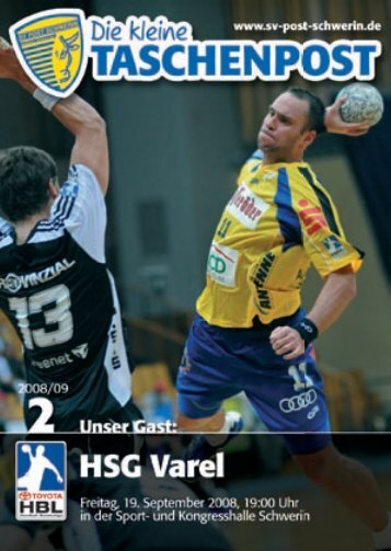 1. LIGA - SV Post Schwerin - Handball-Bundesliga