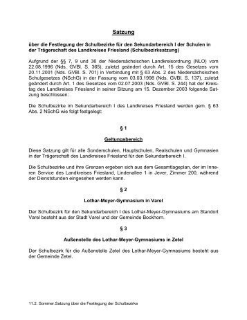 Geltungsbereich - Kreiselternrat Friesland