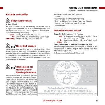 ELTERN UND ERZIEHUNG - Ev.-luth. Kirchengemeinde Varel
