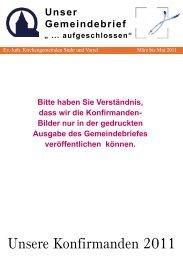 Gemeindebrief März bis Mai 2011 - Ev.-luth. Kirchengemeinde Varrel