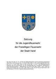 Satzung für die Jugendfeuerwehr der Freiwilligen ... - Stadt Varel