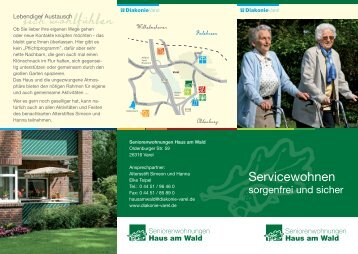 "Flyer ""Haus am Wald"" - Diakonie Varel"