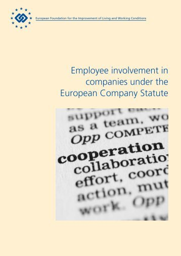 Employee involvement in companies under the European Company ...