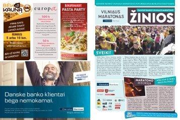 500 lt kiekvieną mėnesį visus metus - Vilniaus maratonas