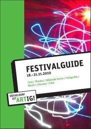 festivalguide - Düsseldorf ist ARTig