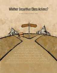 Through the Private Securities Litigation Reform Act of ... - Jones Day