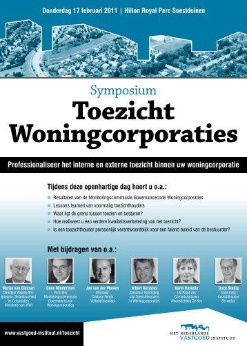 Programma 'Toezicht Woningcorporaties' - Vtw