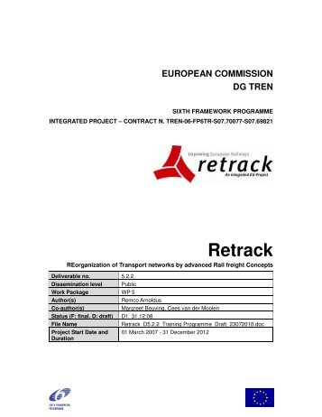 european commission dg tren - ReTrack