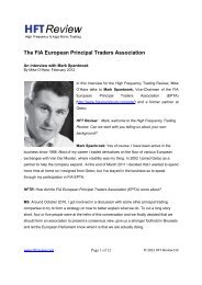 The FIA European Principal Traders Association - Futures Industry ...