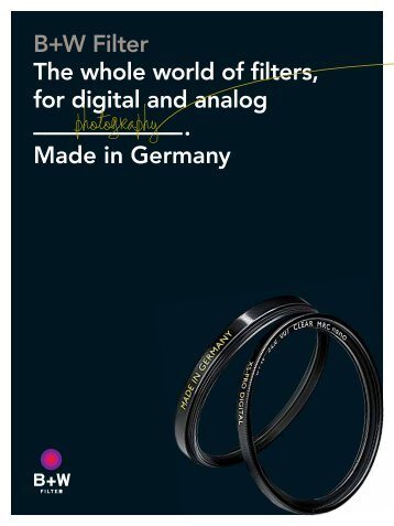 The whole world of filters - Schneider-Kreuznach