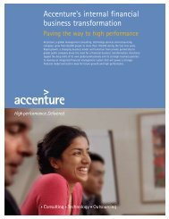 Accenture's internal financial business transformation