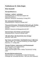 Publikationen Dr. Edda Ziegler Eine Auswahl Buchpublikationen