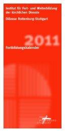 Institut für Fort- und Weiterbildung der kirchlichen Dienste - Diözese ...