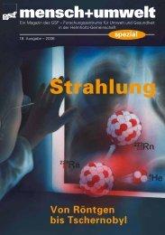 22 mensch+umwelt spezial 18. Ausgabe 2006 - Helmholtz Zentrum ...
